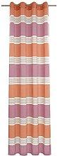 Deko Trends Eyelet Curtain, Fabric, Orange