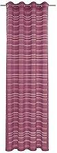Deko Trends Eyelet Curtain, Fabric, red