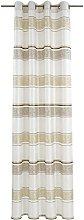 Deko Trends Eyelet Curtain, Fabric, White