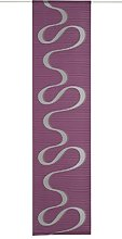 Deko Trends Sliding Curtain, Fabric, Berry, 245 x