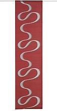 Deko Trends Sliding Curtain, Fabric, Red, 245 x 60
