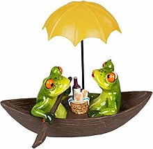 dekojohnson Funny decorative frog couple on a boat
