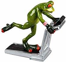 dekojohnson Funny frog on the treadmill decorative