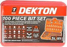 DEKTON DT85142 Star Bit Socket Set Black//Red Set of 7 Piece