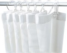 Delabie Shower Curtain Rail White 1382