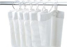 Delabie Shower Curtain Rail White 382