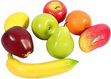 Delaman Artificial fruit, 8pcs/set Plastic Fruit