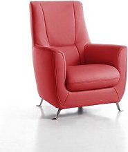 DelaRosa Armchair Wade Logan Upholstery Colour: Red