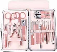 Delaspe Nail Clipper Set 18PC Portable Manicure