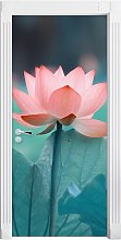Delicate Pink Lotus Door Sticker East Urban Home