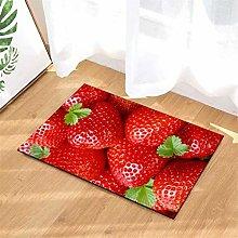 Delicious Strawberries. Door Mat Front Door Carpet