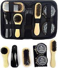 DELITLS Shoe Care Kit, Shoe Polish Kit Gift Box,