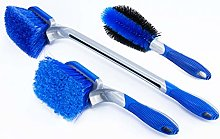 Delleu Car Wheel Brush Kit,Wheel Cleaning Brush