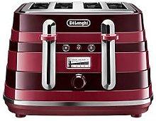 Delonghi Avvolta Class Ctac4003.R 4 Slice Toaster