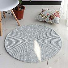 DelongKe Round Rug, Hand Woven Round Multi Color