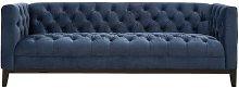 Delphine 3 Seater Chesterfield Sofa Canora Grey