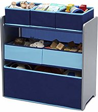 Delta Children 6 Bin Storage Toy Organiser Blue