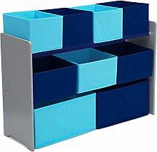 Delta Children Blue 9 Multi-Bin Storage Organiser