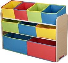 Delta Children Deluxe 9-Bin Toy Storage Organiser,