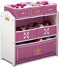 Delta Children Princess Crown 6 Bin Storage Toy