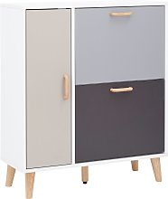 Delta Shoe Cabinet - White & Grey