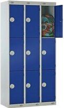 Deluxe 3 Door Locker Nest Of 3, 90wx30dx180h (cm),