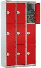 Deluxe 3 Door Locker Nest Of 3, 90wx45dx180h (cm),