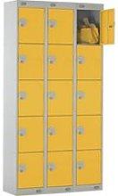Deluxe 5 Door Locker Nest Of 3, 90wx30dx180h (cm),