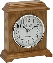 Deluxe Carriage Design Wooden Mantel Clock with