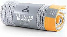 Deluxe Cotton Cellular Baby Blanket - Pram