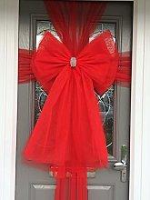 Deluxe Door Bow (Red)