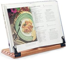 Deluxe Large Cookbook Holder with Cherry Base by