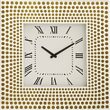 Deluxe Large Mirrored Wall Clock With Gold Circle