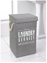 Deluxe Laundry Hamper Grey