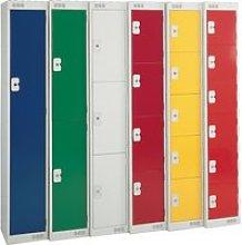 Deluxe Lockers, 30wx45dx180h (cm), Yellow