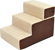 Deluxe Pet Stairs 3 Steps Dog Cat Soft Padded