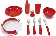 Deluxe Red Tableware Set for Alzheimer's,