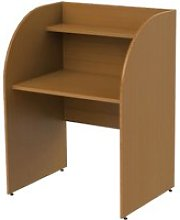 Deluxe Single Sided Panel End Study Carrel Starter