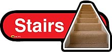 Dementia Friendly Stairs - Red Sign -480mm wide