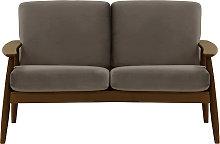 Demure 2 Seater Sofa-Velluto 17-dark oak