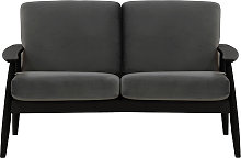 Demure 2 Seater Sofa-Velluto 19-black