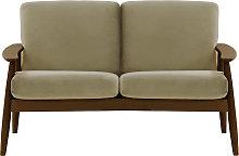 Demure 2 Seater Sofa-Velluto 3-dark oak