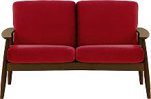 Demure 2 Seater Sofa-Velluto 7-dark oak