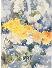 Demuth Yellow And Blue Flowers Painting Art Print