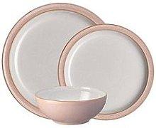 Denby Elements 12-Piece Dinner Service Set &Ndash; Sorbet Pink