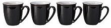 Denby Elements Set Of 4 Coffee Mugs &Ndash; Black