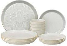 Denby Impression Cream 12 Piece Dinnerware Set