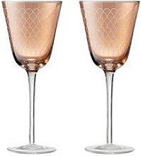Denby Monsoon Mandala Wine Glasses &Ndash; Set Of 2