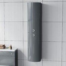 Dene Grey Tall Wall Hung Storage Cabinet