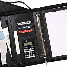 DENG Black Portfolio Folder, Leather Portfolio